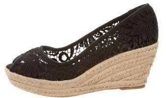 Tory Burch Tory Burch Crochet Espadrille Wedges