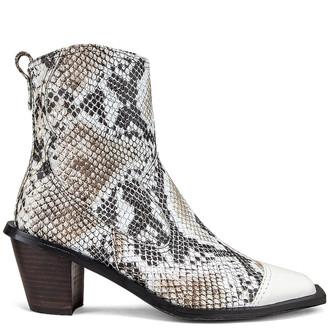 Reike Nen Western Wave Boots in White & Python   FWRD
