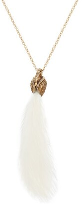 Lanvin Feather Embellished Swan Necklace - Womens - Ivory