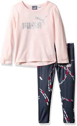 Puma Little Girl's Girls' Two Piece Top and Legging Shirt