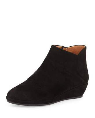 Gentle Souls Nori Suede Demi-Wedge Bootie, Black $249 thestylecure.com