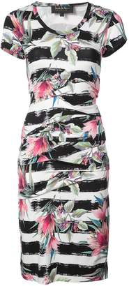 Nicole Miller striped floral printed dress