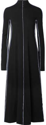 Rosetta Getty Mercerized Cotton-jersey Midi Dress