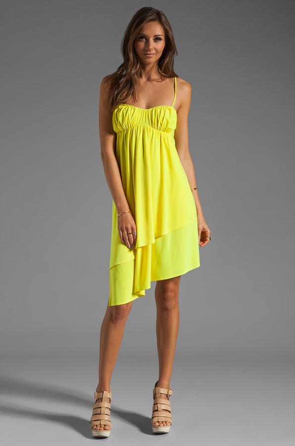 Susana Monaco Matte Knit String Dress