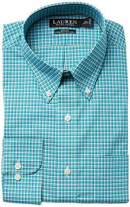 Lauren Ralph Lauren Slim Fit Non Iron Broadcloth Plaid Button Down Collar Dress Shirt Men's Long Sleeve Button Up