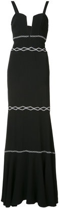Nicole Miller embroidered dress $595 thestylecure.com