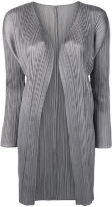 Pleats Please Issey Miyake micro pleated coat