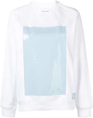 Calvin Klein Jeans vinyl-panelled sweatshirt