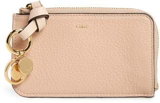 Chloé Alphabet Leather Card Holder