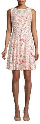 Gabby Skye Floral-Print Fit-and-Flare Dress