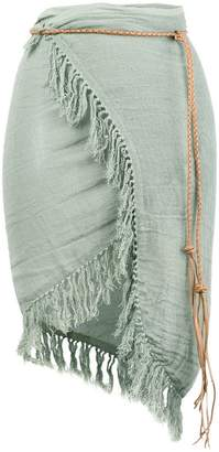 Caravana fringed wrap skirt