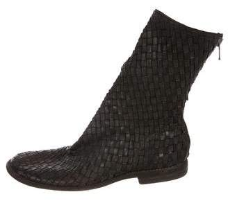 Guidi Woven Leather Ankle Boots