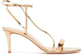 Gianvito Rossi Manhattan 70 Patent Leather Sandals - Womens - Gold