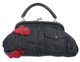 Miu Miu Leather-Trimmed Frame Bag