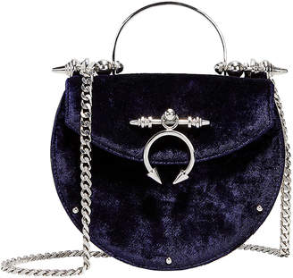 Okhtein Saddle Velvet Crossbody Bag