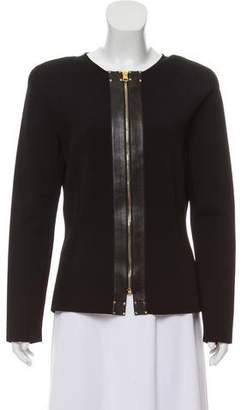 Tom Ford Leather-Trimmed Zip-Up Jacket