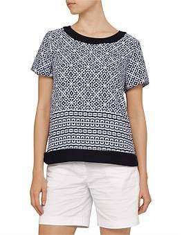 David Jones Printed Woven Tee