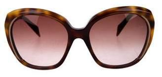 Alexander McQueen Tortoiseshell Gradient Sunglasses