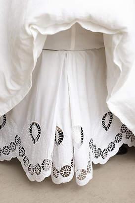 Anthropologie Eyelet Embroidered Bed Skirt