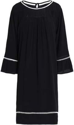 Velvet by Graham & Spencer Crochet-Trimmed Crepe De Chine Dress