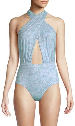 6 Shore Road By Pooja Cabana Printed One-Piece Swimsuit