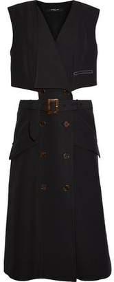 Derek Lam Cutout Cotton-Twill Dress