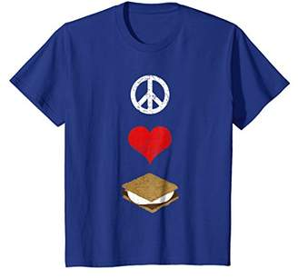 Peace Love S'mores T-Shirt - Camping Tee