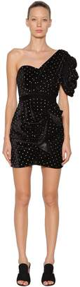 Self-Portrait Self Portrait EMBELLISHED VELVET MINI DRESS