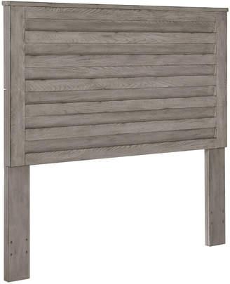 Home Meridian Horizontal Slat Overlay Queen Wood Headboard