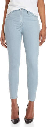 Levi's Railroad Stripe Mile High Ankle Super Skinny Jeans