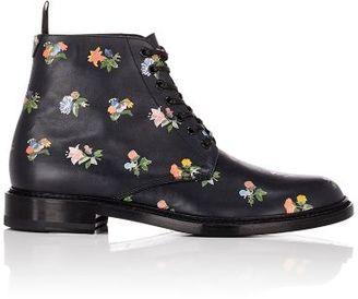 Saint Laurent Women's Lolita Lace-Up Boots-BLACK $995 thestylecure.com