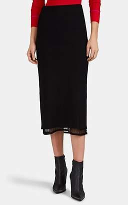 Proenza Schouler Women's Compact Knit Pencil Midi-Skirt - Black