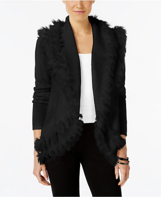 Alfani Faux-Fur-Trim Cardigan, Only at Macy's $89.50 thestylecure.com