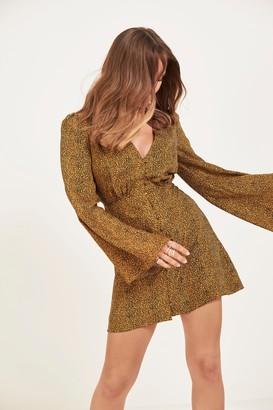 Nasty Gal Run Riot Button-Down Leopard Dress