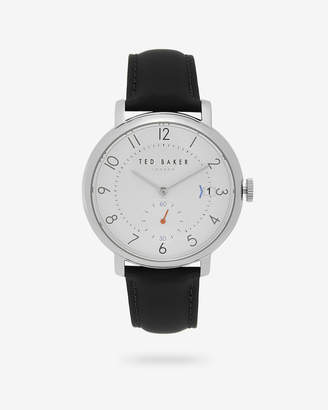Ted Baker OSCARB Leather strap watch