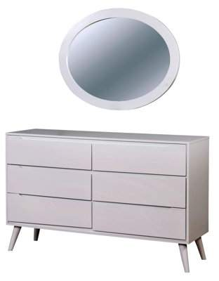 Furniture of America Farrah Dresser with Oval Mirror, Multiple Colors