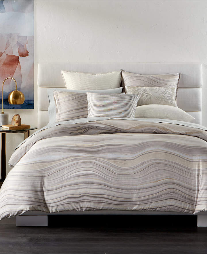 Agate Pima Cotton King Duvet Cover, Created for Macy's Bedding