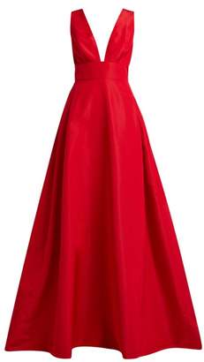 Carolina Herrera Callie Silk Faille Gown - Womens - Red