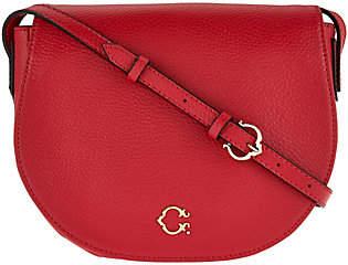 C. WonderC. Wonder Pebble Leather Saddle Crossbody Handbag
