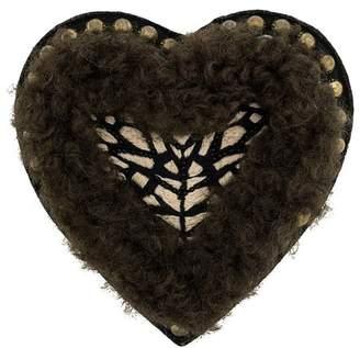 Yves Salomon Meteo textured heart brooch