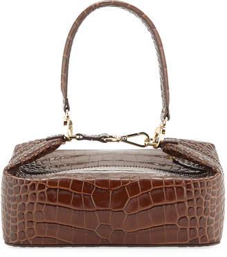 Rejina Pyo Olivia Crocodile-Embossed Top Handle Bag, Brown