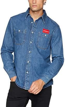 Calvin Klein Jeans Men's Long Sleeve Button Down Uniform Shirt