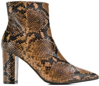 The Seller snakeskin-effect ankle boots
