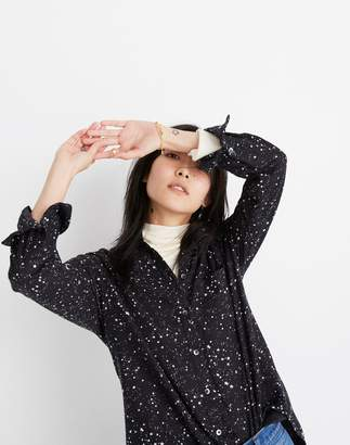Madewell Oversized Ex-Boyfriend Shirt in Star Print