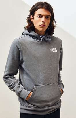 The North Face Heather Grey Red Box Pullover Hoodie