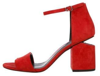 Alexander Wang Abby Suede Sandals Red Abby Suede Sandals