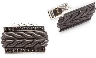 John Hardy Men's Sterling Silver Embossed Cuff Links
