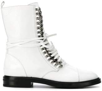 Casadei flat lace-up boots