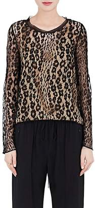 Chloé WOMEN'S LEOPARD-PATTERN LACE BLOUSE