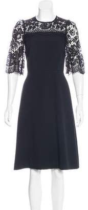Dolce & Gabbana Lace-Trimmed A-Line Dress